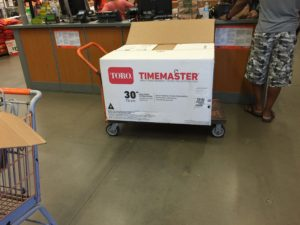 Time Master 30 going back to HOme Depot.